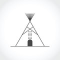 American Indian Tipi Icon Stock Image - 79751021