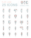 Vector Set Connectors For PC And Mobile Devices Stock Images - 79753434
