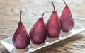 Merlot-poached Pears On The Plate Stock Image - 79756281