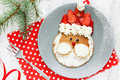 Christmas Santa Pancake With Strawberry For Kid Breakfast Royalty Free Stock Photos - 79763178
