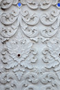Stucco White Sculpture Decorative Pattern Wall Design Square Format. Royalty Free Stock Images - 79774199