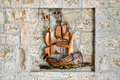 Artistic Old Bronze Ship Royalty Free Stock Photography - 79777627