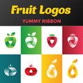 Fresh Fruits Logos Design Vector. Juice Drink Logo Royalty Free Stock Images - 79780739