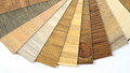 Samples Of Vinyl And Laminate Wooden Pattern Stock Photo - 79797260
