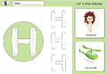 Cartoon Hedgehog And Helicopter. Alphabet Tracing Worksheet Royalty Free Stock Photography - 79817127
