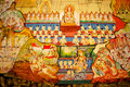 Traditional Thai Style Art Painting On Temple S Wall (Ramayana S Stock Images - 79839274
