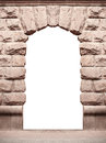 Stone Old Arch Isolated On White Background With Place For Text Royalty Free Stock Image - 79863016