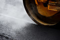 Asphalt Paving With Steel Roller Stock Photography - 79885892