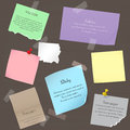 Set Of Paper Banner Notes Stickers. Pieces Of Torn Colorful Blank Note Color Paper. Various Color Paper Sheets, Note Stock Photo - 79887190