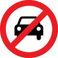 No Car Or No Parking Sign Royalty Free Stock Images - 79904939