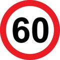 60 Speed Limitation Road Sign Royalty Free Stock Images - 79904999