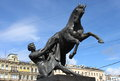 Horse Tamers Statue In St. Petersburg Royalty Free Stock Photo - 79905295