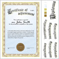 Vector Illustration Of Gold Certificate. Template. Royalty Free Stock Images - 79908339