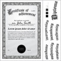 Vector Illustration Of Black And White Certificate. Stock Photo - 79908350