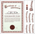 Vector Illustration Of Brown Certificate. Stock Photography - 79908382