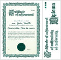 Green Certificate. Template. Vertical. Royalty Free Stock Photography - 79908447