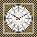 Dial Victorian Clock In The Style Of Big Ben. Vector Editable Template Stock Images - 79916474