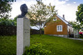 Edvard Munch S House And His Monument Royalty Free Stock Images - 79925169