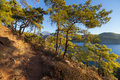Turkish Landscape With Olympos Mountain, Beach  Green Forest Stock Photo - 79934820
