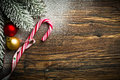 Candy Cane And Other Christmas Decoration Royalty Free Stock Photography - 79948867