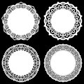 Set Of Design Elements, Lace Round Paper Doily, Doily To Decorate The Cake, Template For Cutting, Snowflake, Greeting Element, Met Royalty Free Stock Image - 79962306