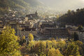Medieval Brasov During Autumn. The Gothic Black Church. Stock Photo - 79962490