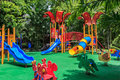 Colorful Playground In The Park Royalty Free Stock Photo - 79964965