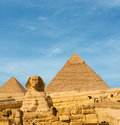 Sphinx Front Facing Giza Egypt Pyramids Khafre Royalty Free Stock Images - 79966169