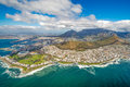 Cape Town And The 12 Apostels From Above Stock Image - 79980741