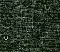 Math Vector Technical Seamless Pattern With Handwritten Formulas, Calculations, Plots, Signs, Equations, Shuffled Together Royalty Free Stock Image - 79991346
