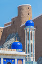 The Khor Mosque And Fort Marani, Muscat, Oman Royalty Free Stock Image - 80003776