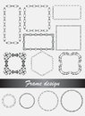 Vector Decorative Frames And Borders In Different Shape. Stock Images - 80006074