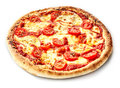 Traditional Margherita Pizza On A Thick Crust Stock Photos - 80010783