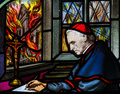 Cardinal Mercier - Stained Glass Stock Image - 80023101