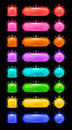 Colorful Vector Buttons Set. Royalty Free Stock Photo - 80025045