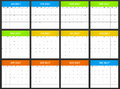 USA Planner Blank For 2017. Scheduler, Agenda Or Diary Template. Week Starts On Sunday Royalty Free Stock Image - 80050716