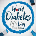 Commemoration Of World Diabetes Day With Glucose Control Tools, Vector Illustration Royalty Free Stock Photo - 80055555