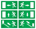 Emergency Exit Signs Set. Stock Photography - 80057502