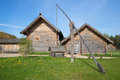 Wooden Well From Ancient Farmhouses In The Village Of Bugrovo. Museum-reserve Mikhailovskoye Stock Photography - 80059142