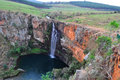 South Africa, East, Mpumalanga Province, Mac Mac Falls, Waterfall, Pond Stock Photo - 80080930
