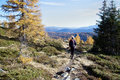 Hiker On Mountain Path Stock Photography - 80085572
