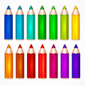 Pencil Set Color Vector Illustration Stock Images - 80086274
