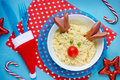 Creative Idea For Kids Christmas Food - Couscous With Vegetables Stock Photography - 80099952