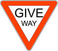 Give Way Sign Royalty Free Stock Photo - 8016745