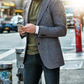 Men`s Fashion Casual Street Style Outfit Stock Photo - 80113260