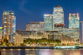LONDON - SEPTEMBER 25, 2016: Canary Wharf Buildings Along River Stock Photo - 80124800