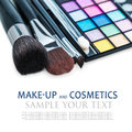 Make-up Colorful Eyeshadow Palettes Stock Photography - 80129312