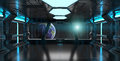 Spaceship Interior With View On The Planet Earth 3D Rendering El Royalty Free Stock Photography - 80160347