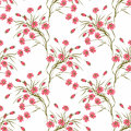 Floral Seamless Pattern , Cute Flowers White Background Royalty Free Stock Photography - 80175917