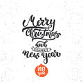 Merry Christmas And Happy New Year - Lettering Holiday Calligraphy Phrase. Fun Brush Ink Typography Illustration For Royalty Free Stock Photo - 80179505